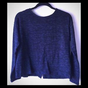 Forever 21 Sweater, Dark Blue & Black Heather, S